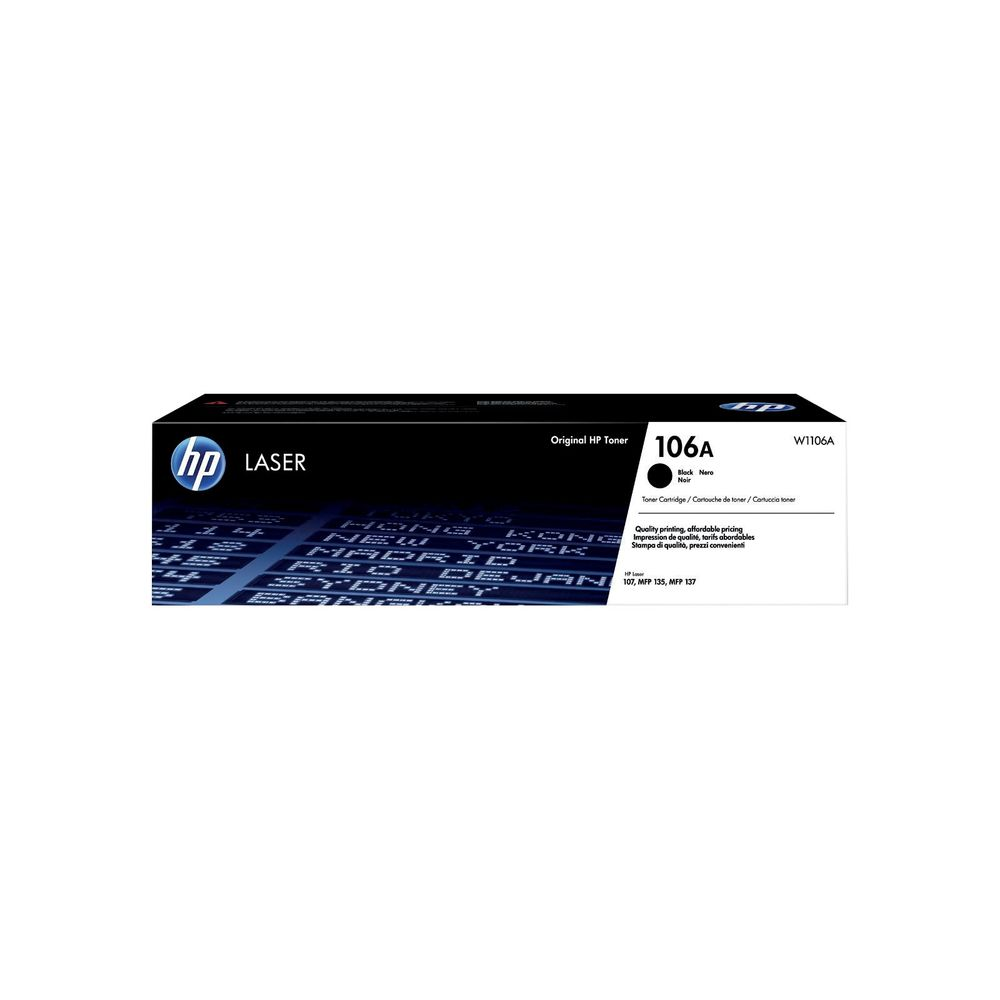 HP 106A Black Toner Cartridge - W1106A