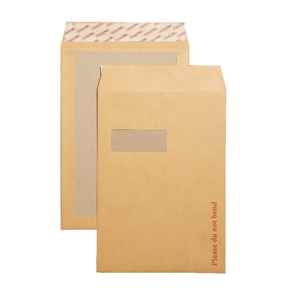 New Guardian Board Backed Peel/Seal Manilla C4 Envelopes 130gsm, Pk125 - B26526