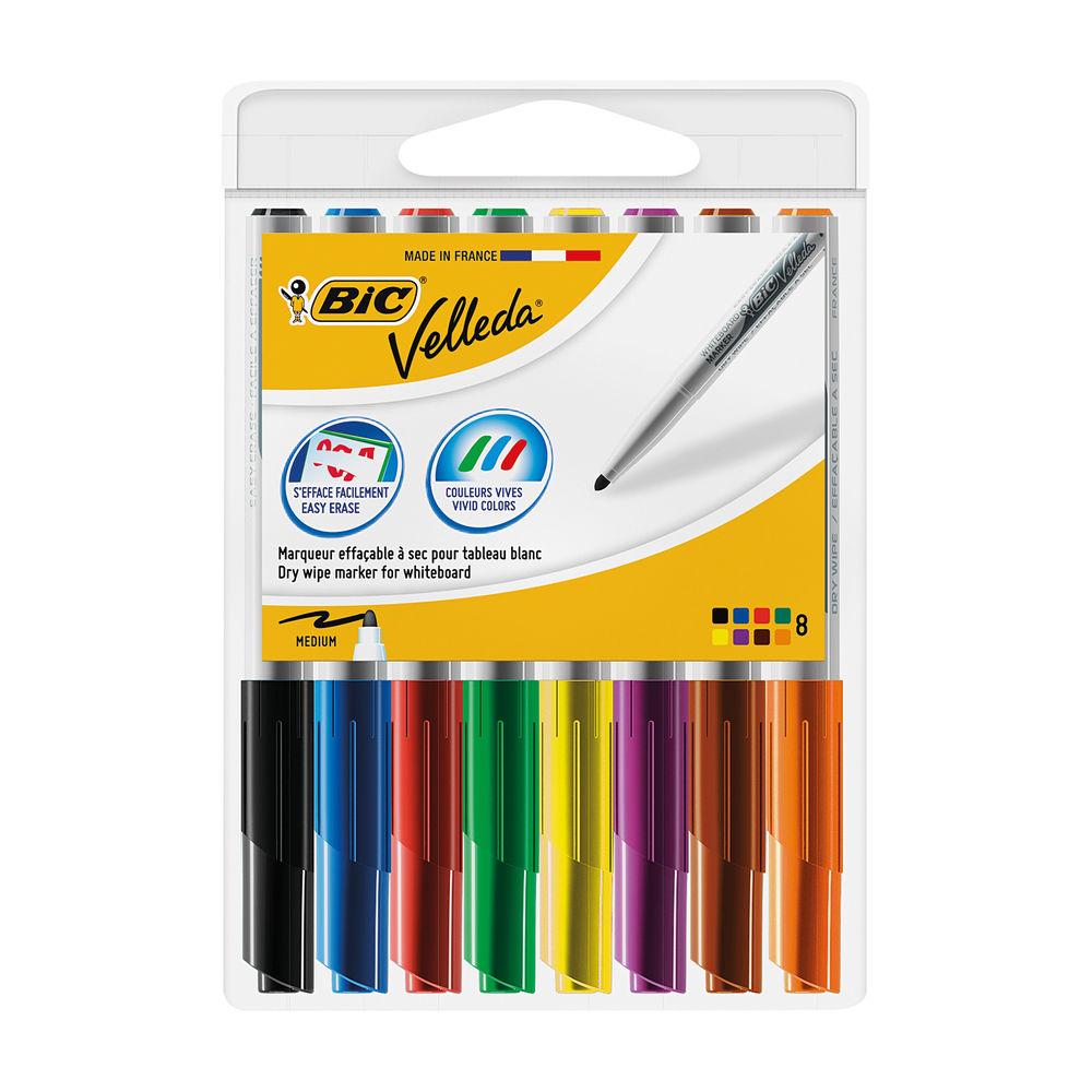 Bic Velleda 1741 Assorted Drywipe Markers (Pack of 8) - 1199001748