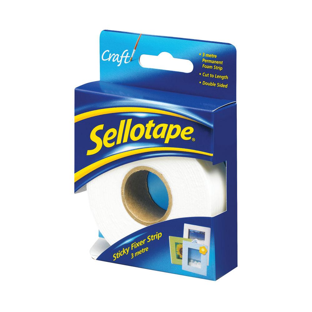 Sellotape Sticky Fixers Strip 25mmx3m 484330