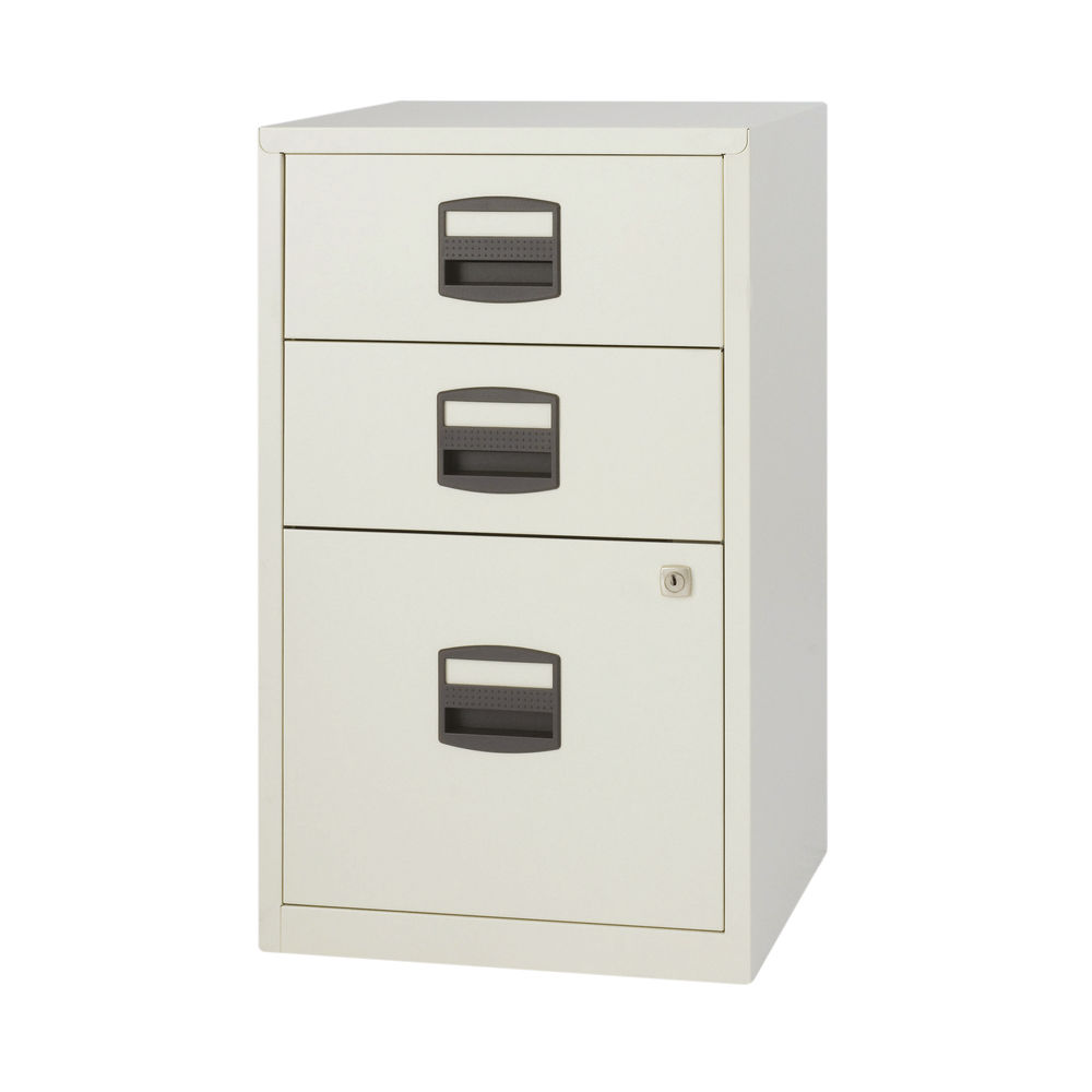 Bisley 672mm Goose Grey Home 3 Drawer Filing Cabinet - PFA3-87