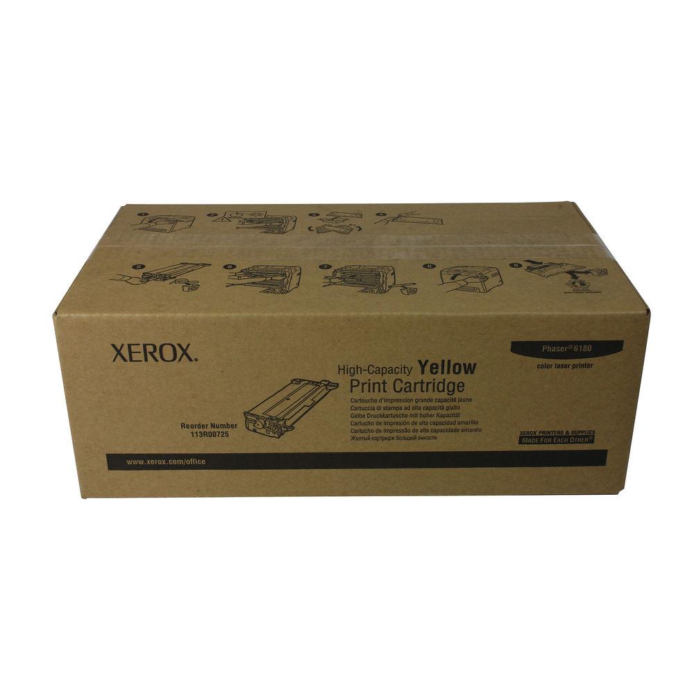 Xerox Phaser 6180 Yellow High Capacity Laser Toner Cartridge 113R00725