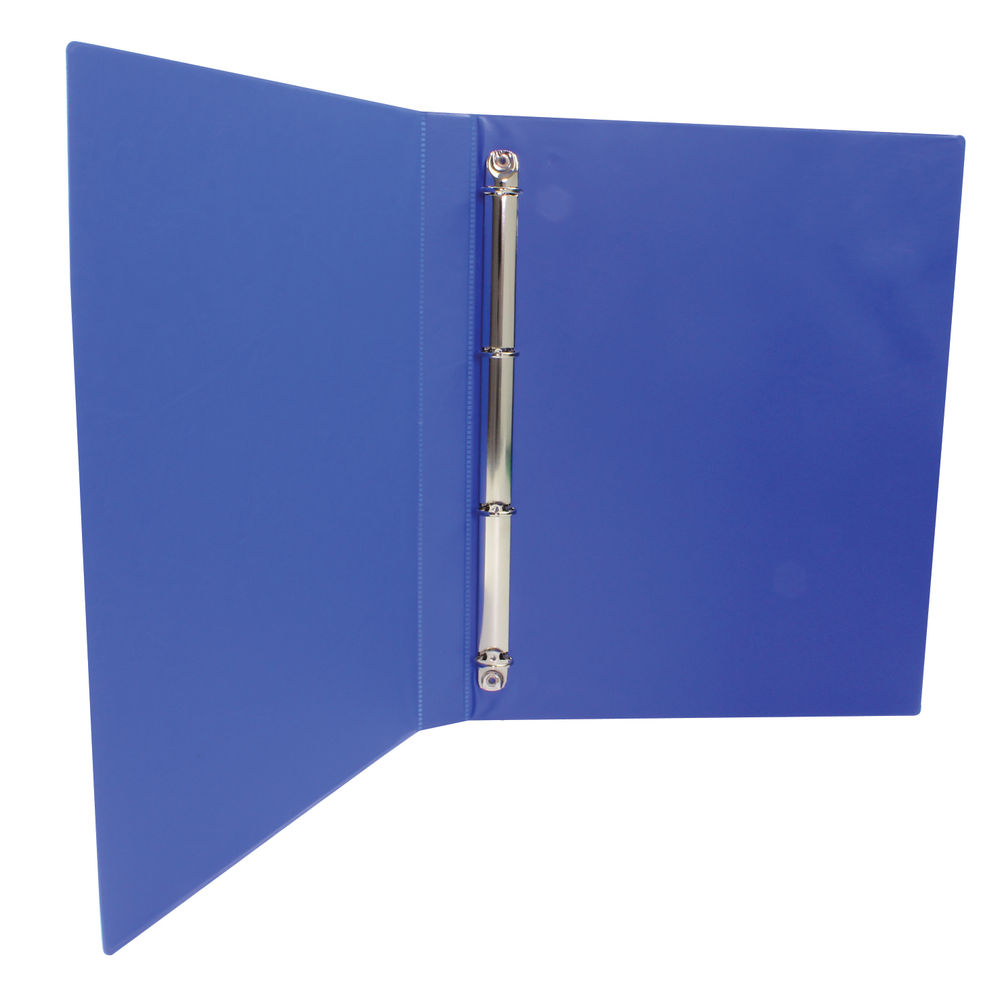 Blue A4 16mm  4 O-Ring Presentation Ring Binders, Pack of 10 - WX47604