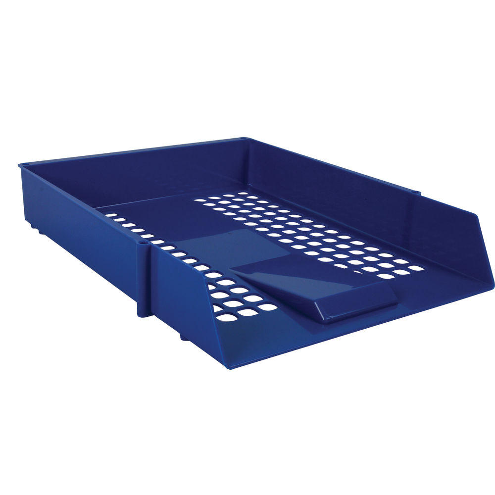 Blue Plastic Letter Trays, Pack of 12 - WX10052
