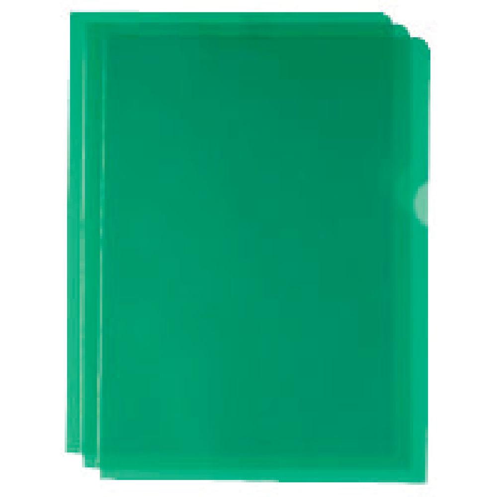 Green Cut Flush Folders (Pack of 100) - WX01488