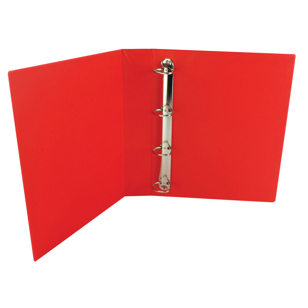 Red A4 40mm 4 D-Ring Presentation Ring Binders (Pack of 10) - WX01330