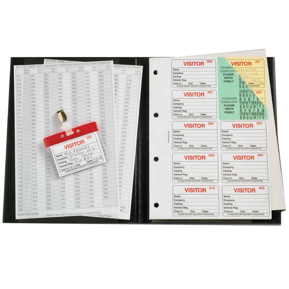 IdentiBadge System Visitors Book -100 Inserts - IBVBSYS300