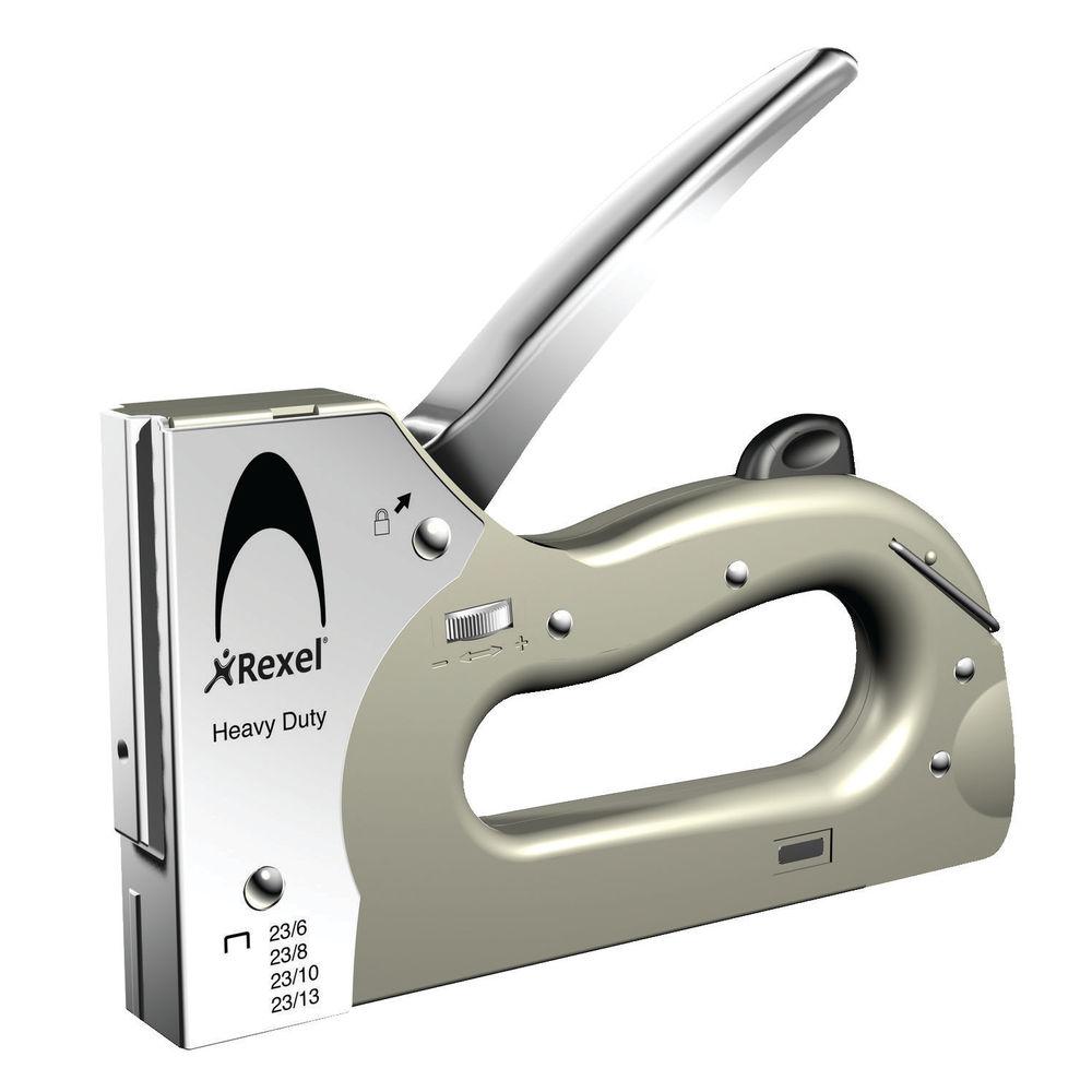 Rexel Silver Heavy Duty Tacker / Stapler - 2101209