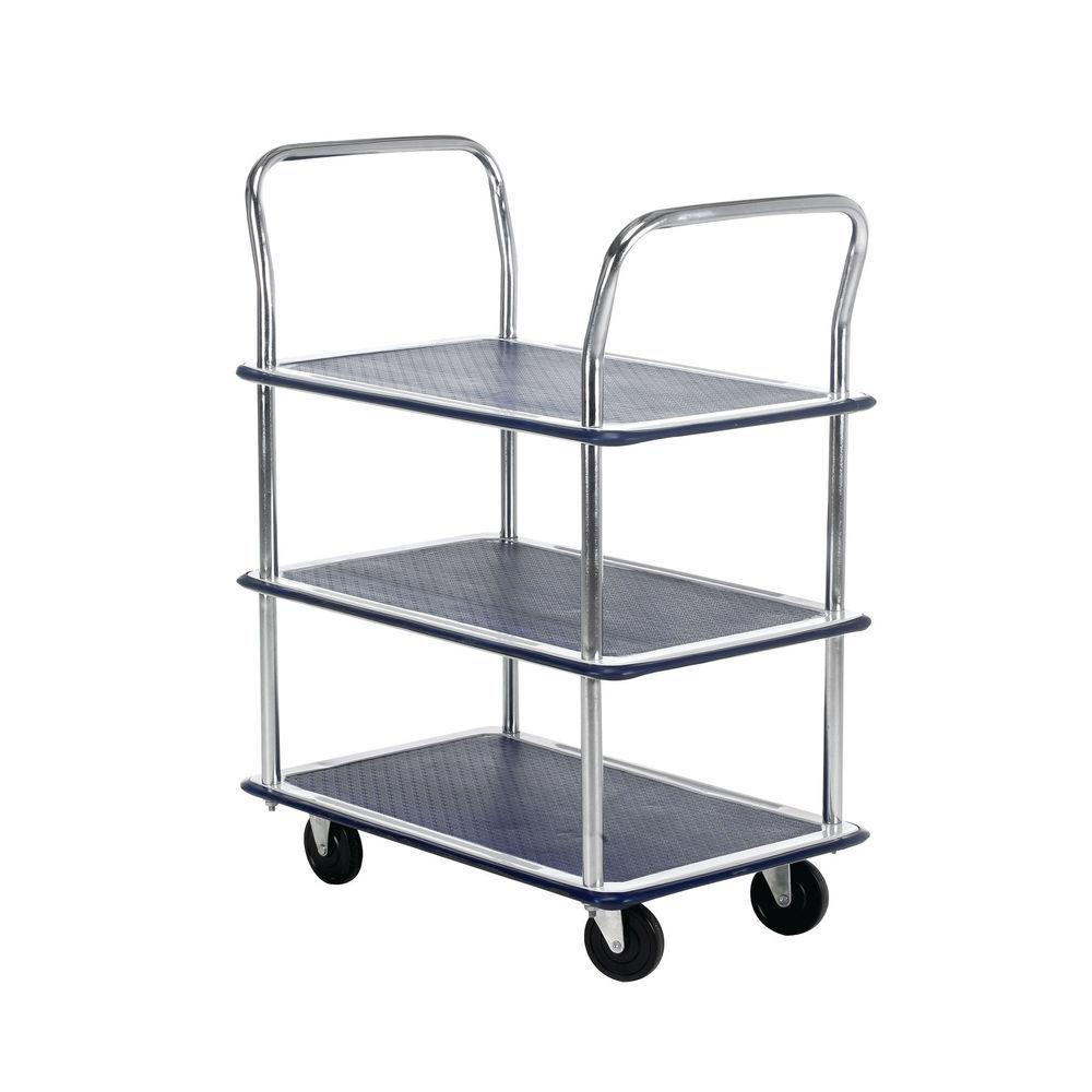 Barton Three Shelf Service Trolley, 120kg Capacity -  MJ32118