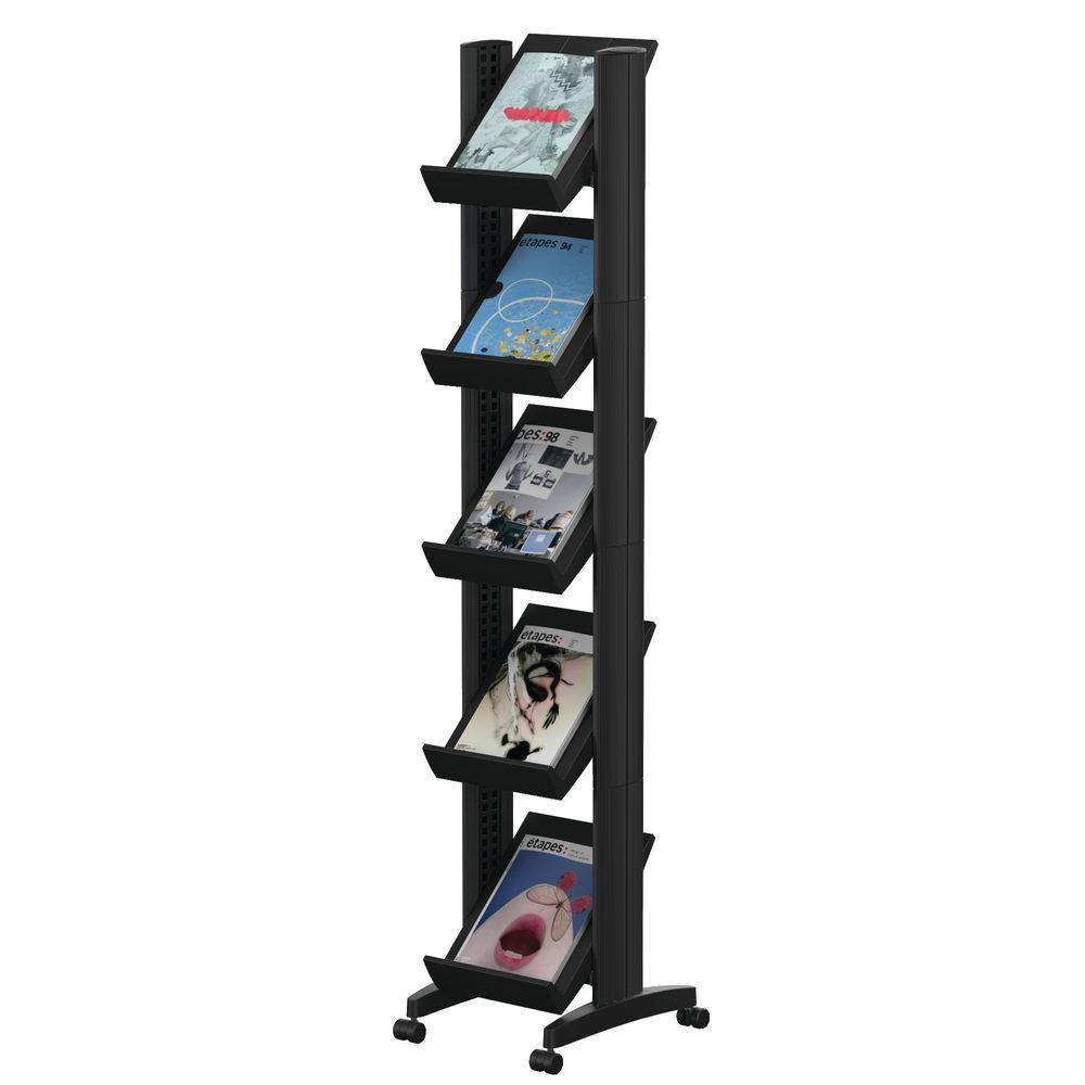Fast Paper 5 Shelf Mobile Literature Display – F259N01