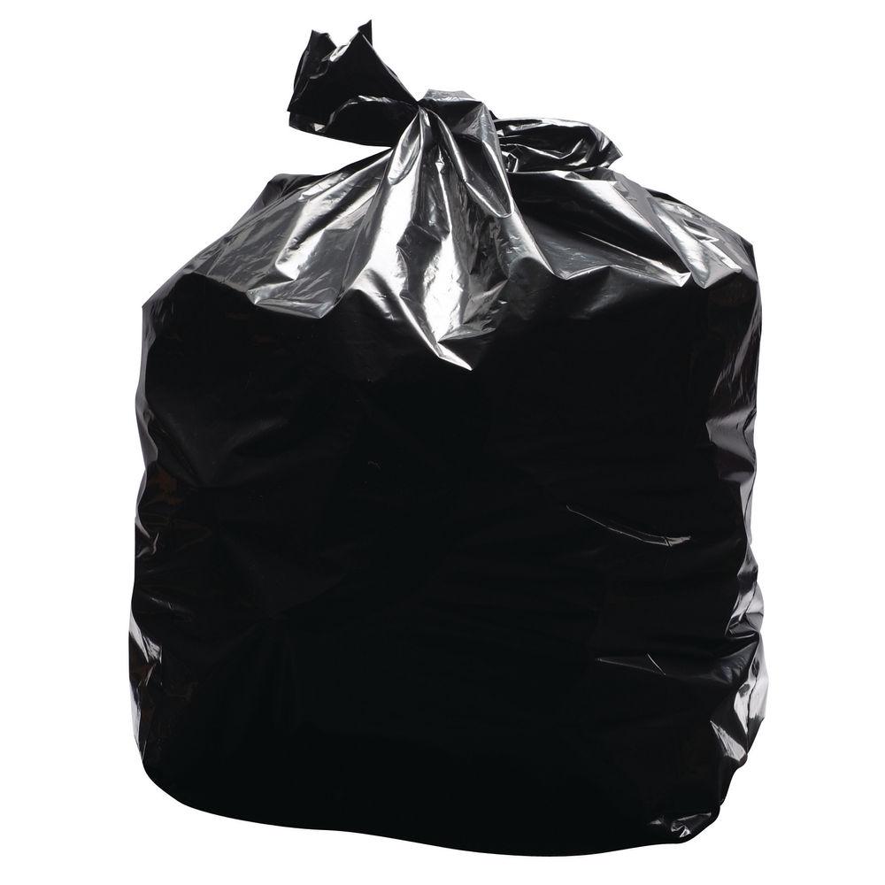 2Work Black Light Duty Refuse Sacks, Pack of 200