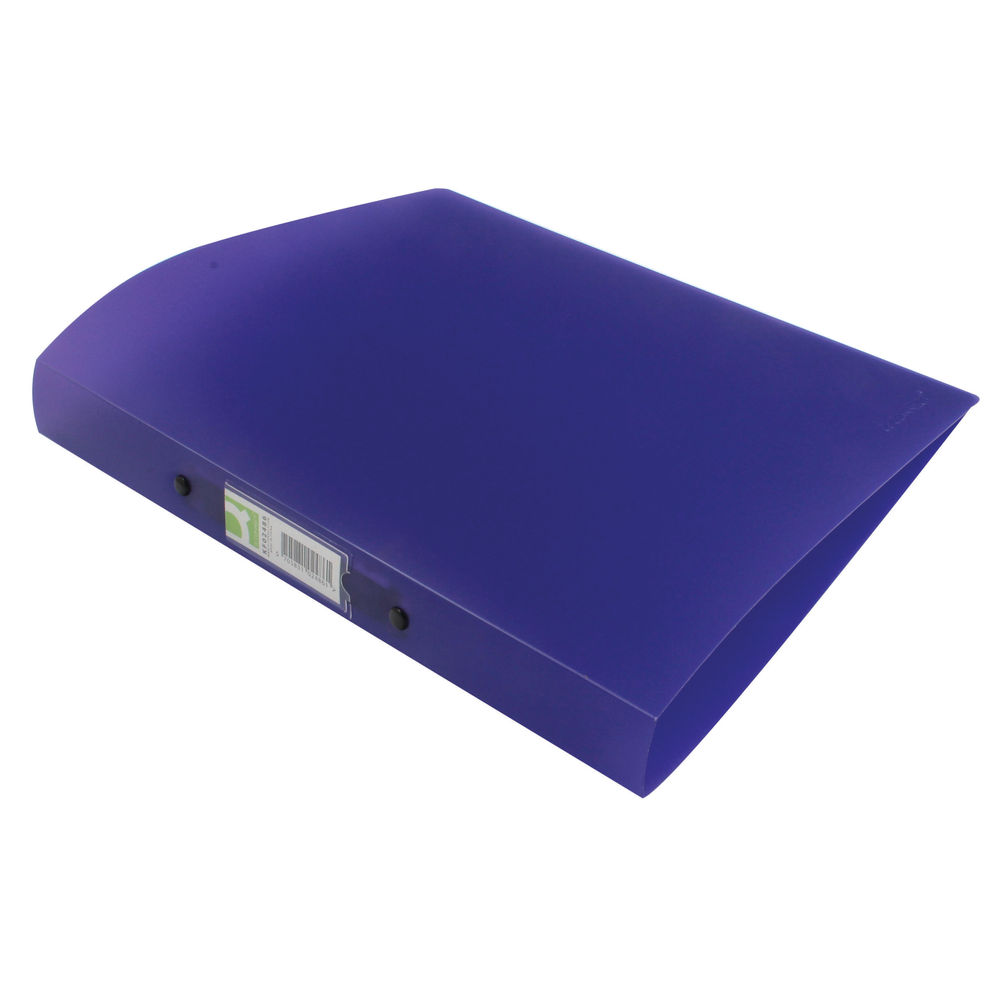 Q-Connect Frosted Purple A4 2 Ring Polypropylene Ring Binder - KF02486