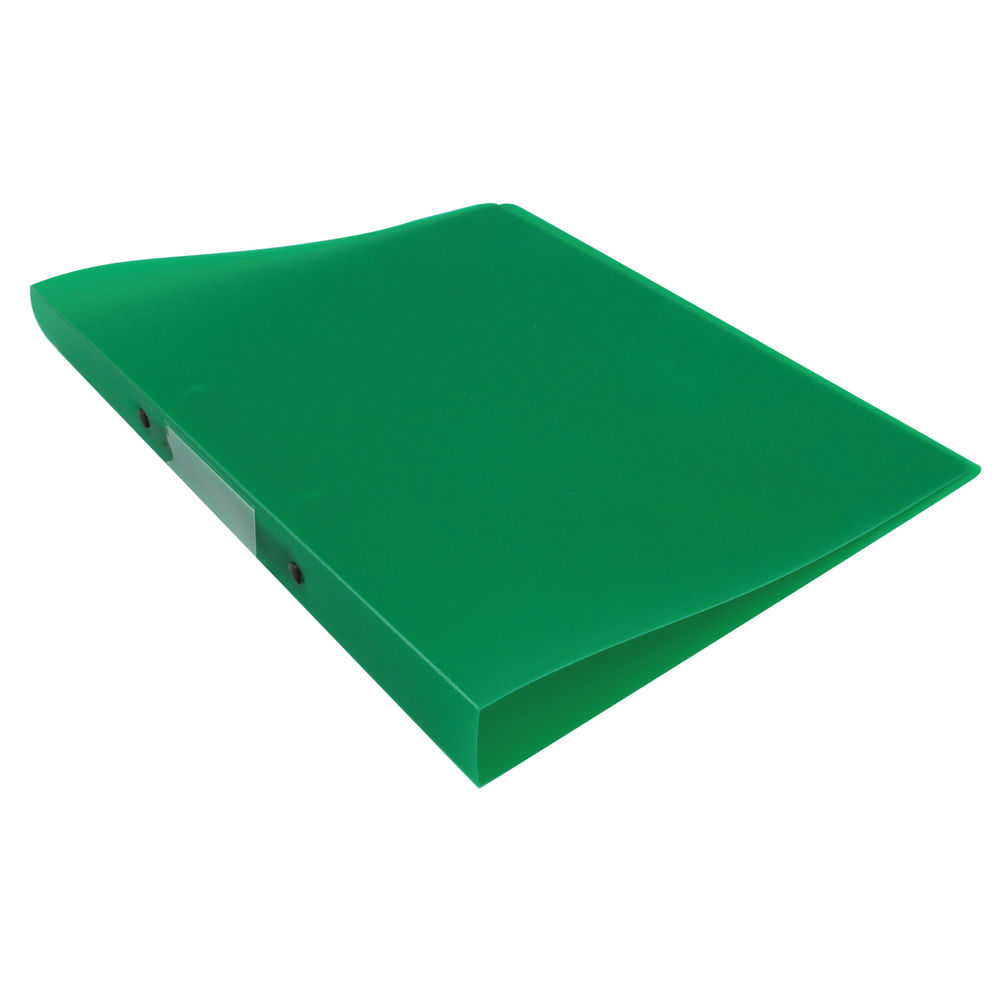 Q-Connect Frosted Green A4 2 Ring Polypropylene Ring Binder - KF02484