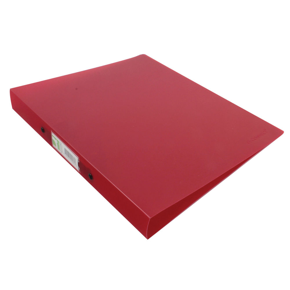Q-Connect Frosted Red A4 2 Ring Polypropylene Ring Binder - KF02482