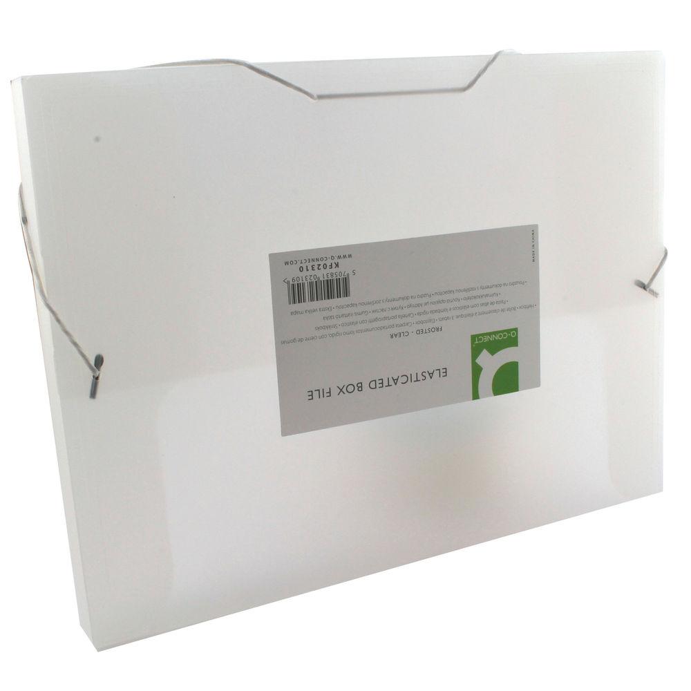 Q-Connect Clear Elasticated Box File - KF02310