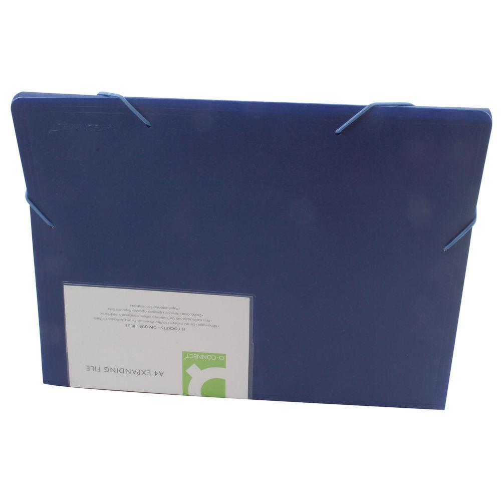 Q-Connect Blue A4 13-Pocket Expanding File - KF01275