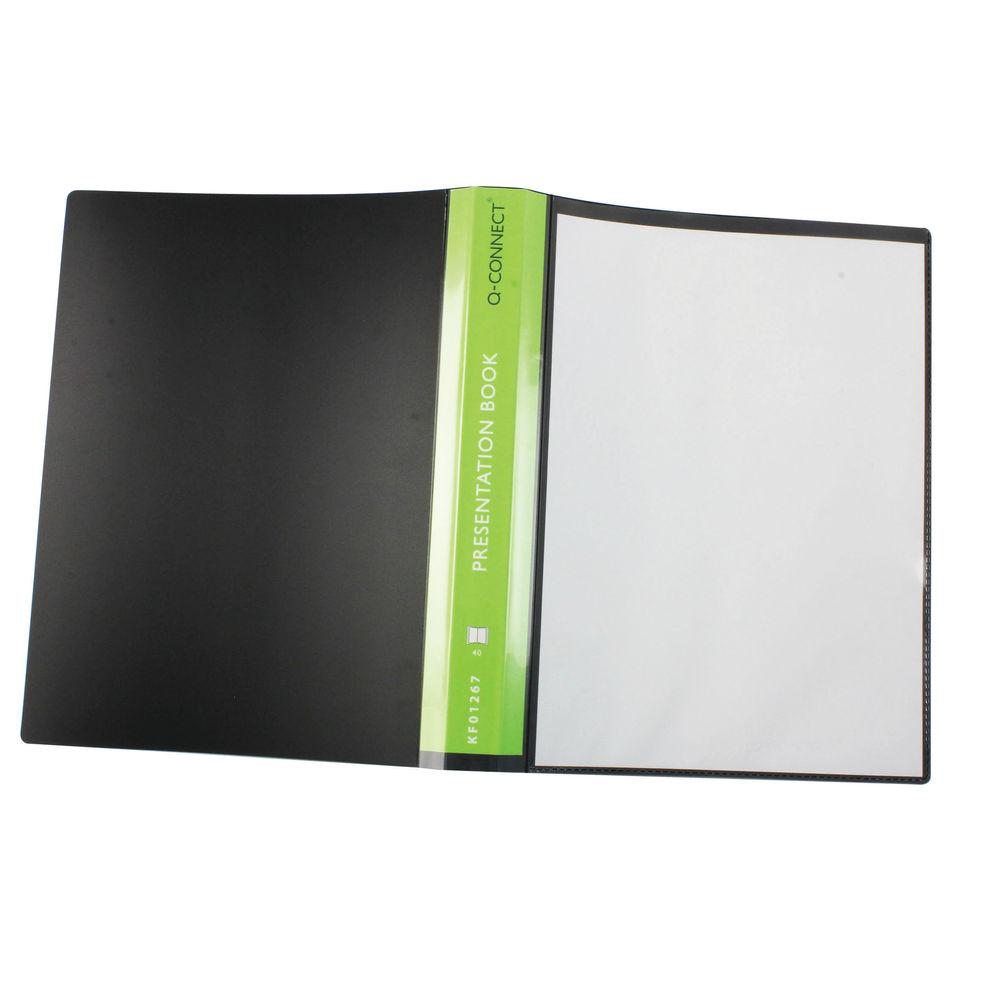 Q-Connect Black 40 Pocket A4 Presentation Book - KF01267