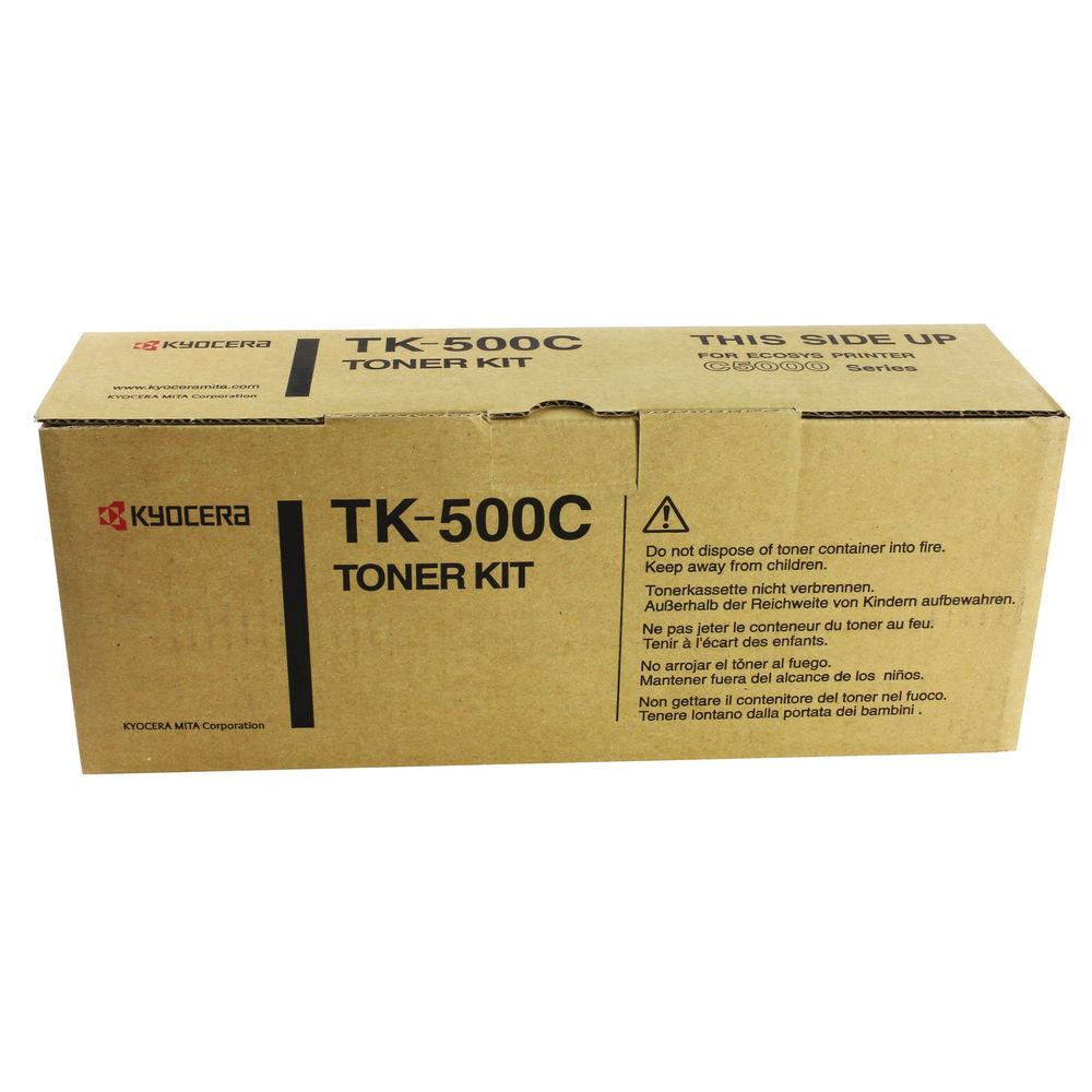 Kyocera Cyan TK-500C Toner Cartridge (8,000 Page Capacity)