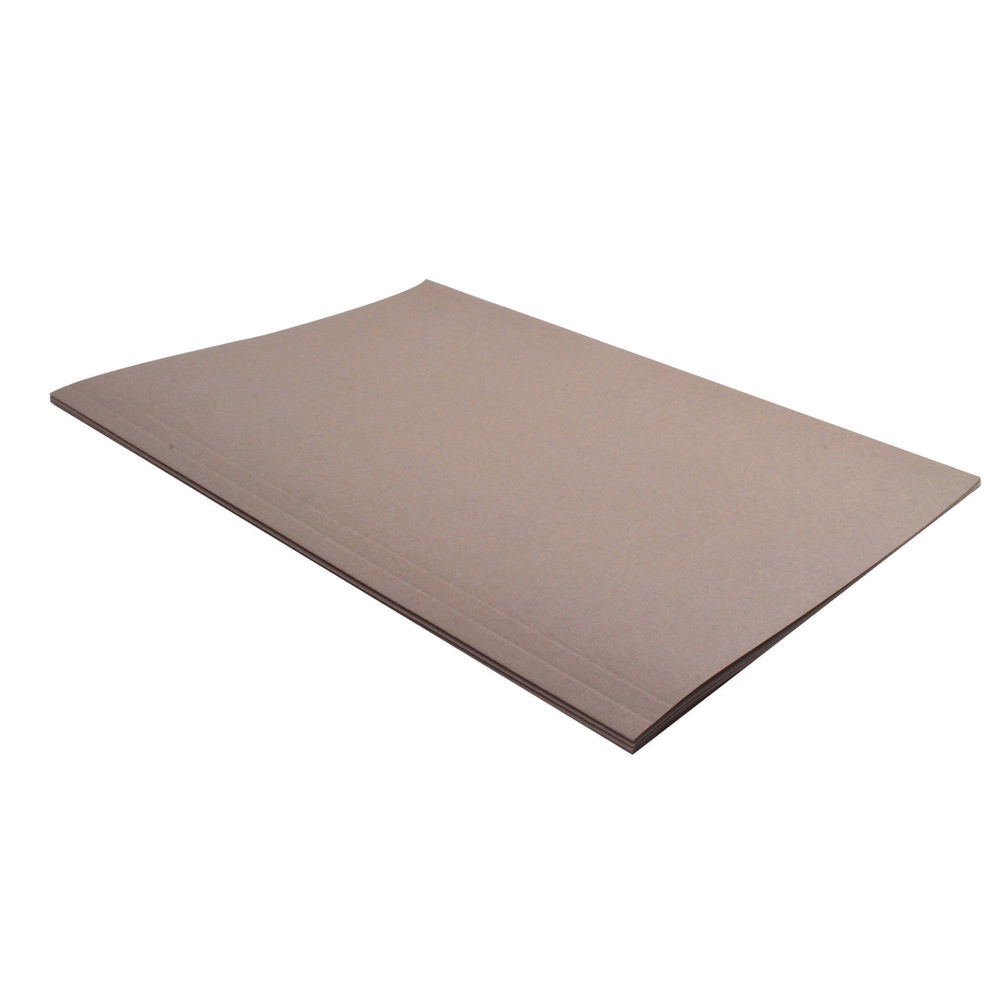 Guildhall Foolscap Square Cut Buff Folders 180gsm - Pack of 100 - JT41202