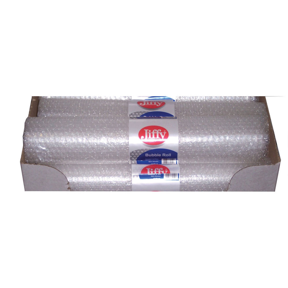 Jiffy Small Clear Bubble Wrap Rolls, 500mm x 3m - Pack 20 - JF79528
