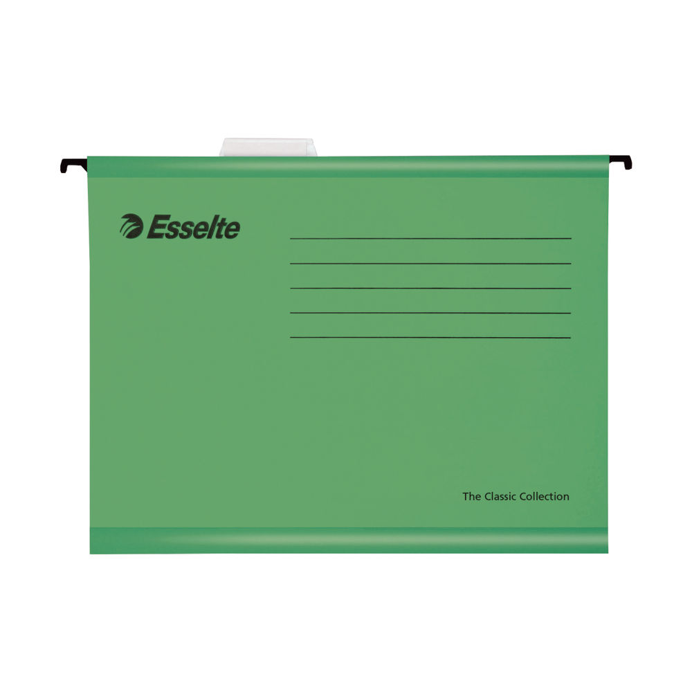 Esselte A4 Green Classic Suspension Files, Pack of 25 | 90318
