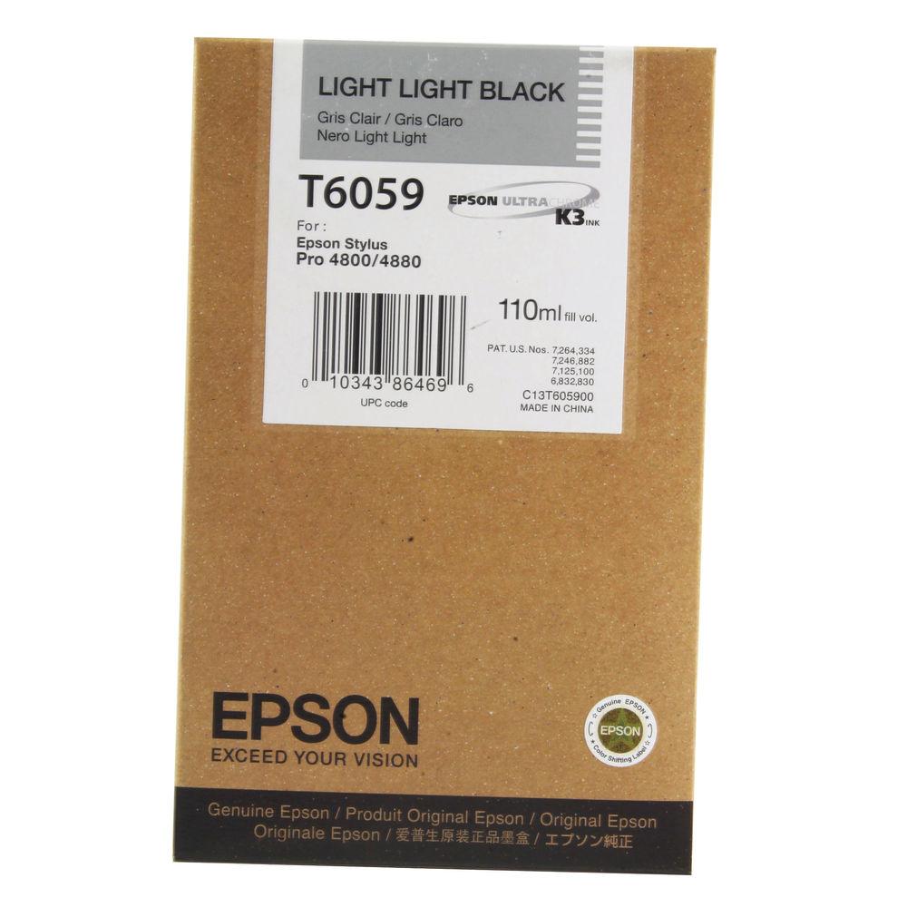 Epson T6057 Lt Black Ink Cart For StylusPro 4800/4880 110ml C13T605700