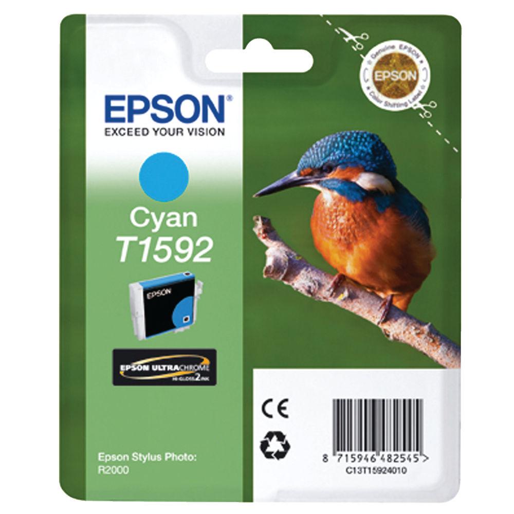 Epson T1592 Cyan Ink Cartridge - C13T15924010