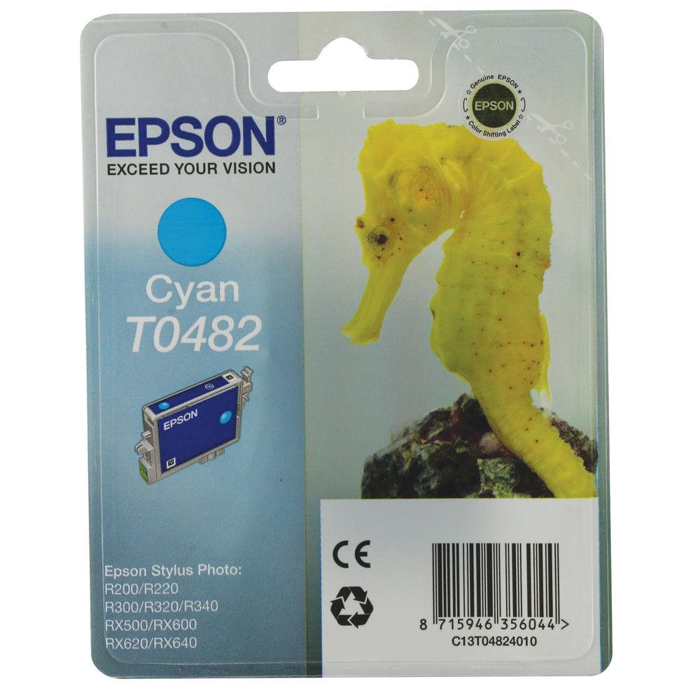 Epson T0482 Cyan Ink Cartridge - C13T04824010