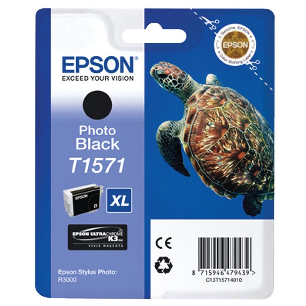 Epson T1571 Photo Black Ink Cartridge - High Capacity C13T15714010