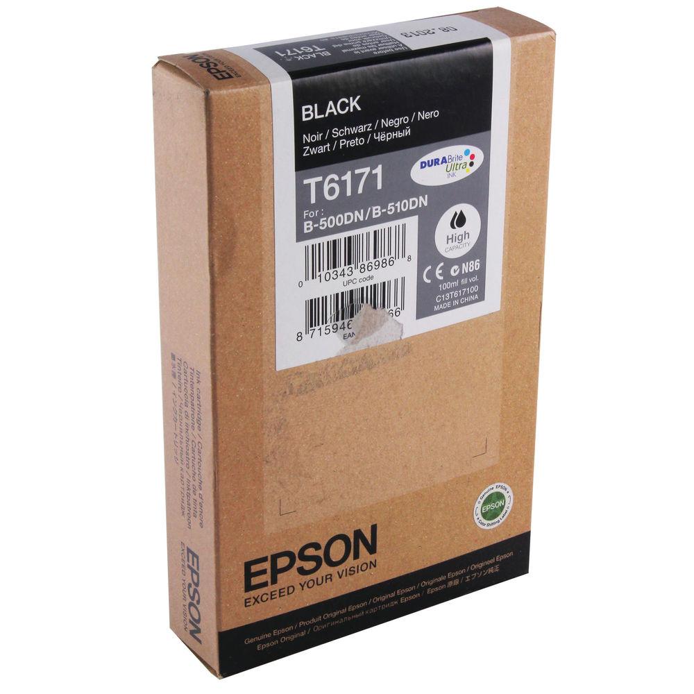 Epson T6171 Black Ink Cartridge - High Capacity C13T617100