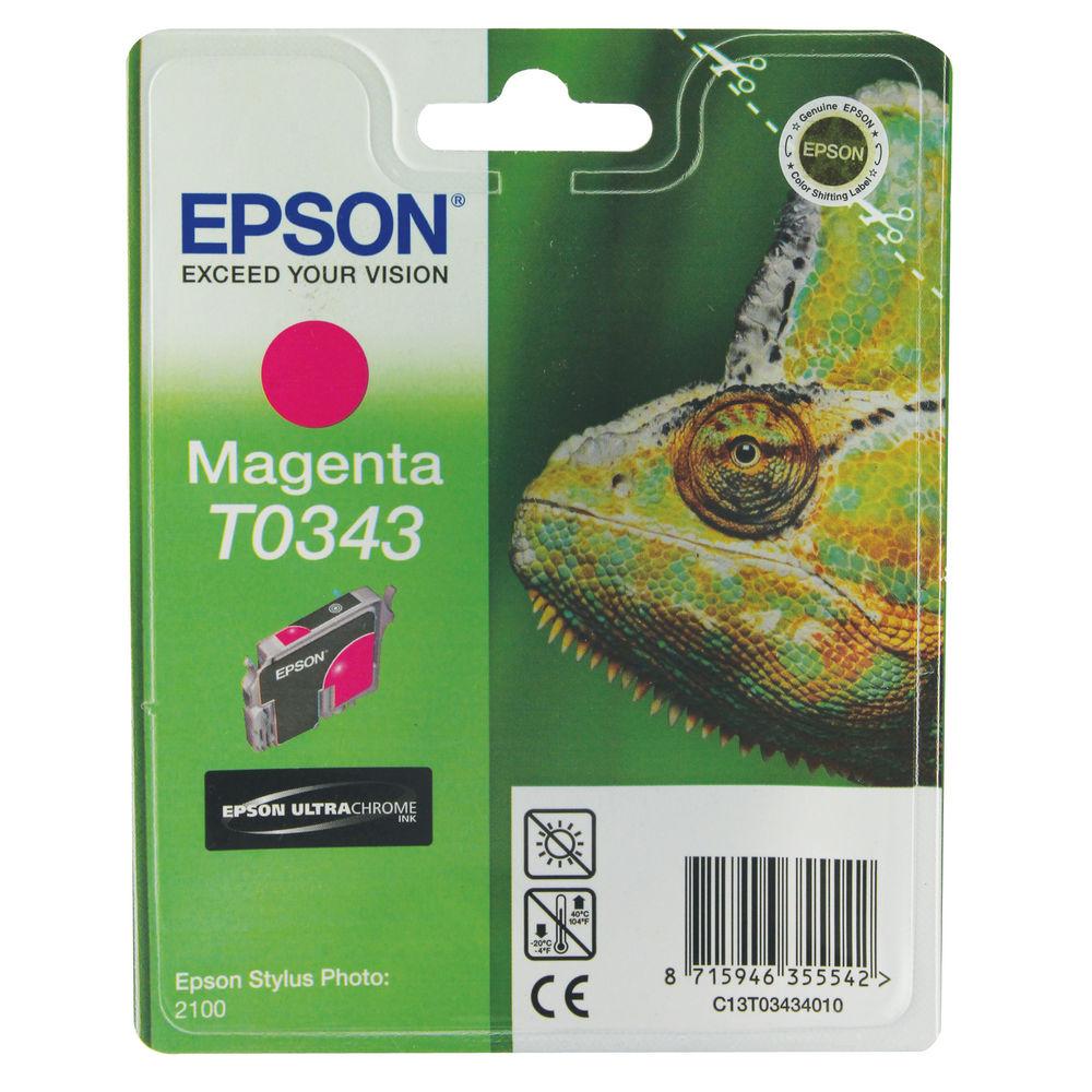Epson T0343 Magenta Ink Cartridge - C13T03434010