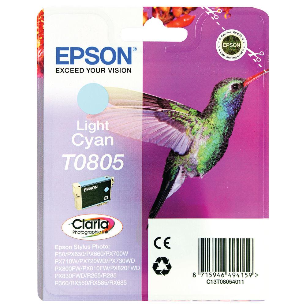 Epson T0805 Light Cyan Ink Cartridge - C13T08054011