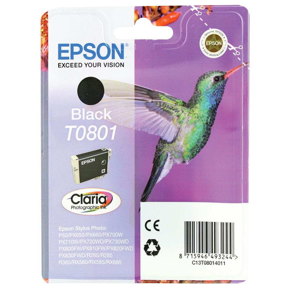 Epson T0801 Black Ink Cartridge - C13T08014011