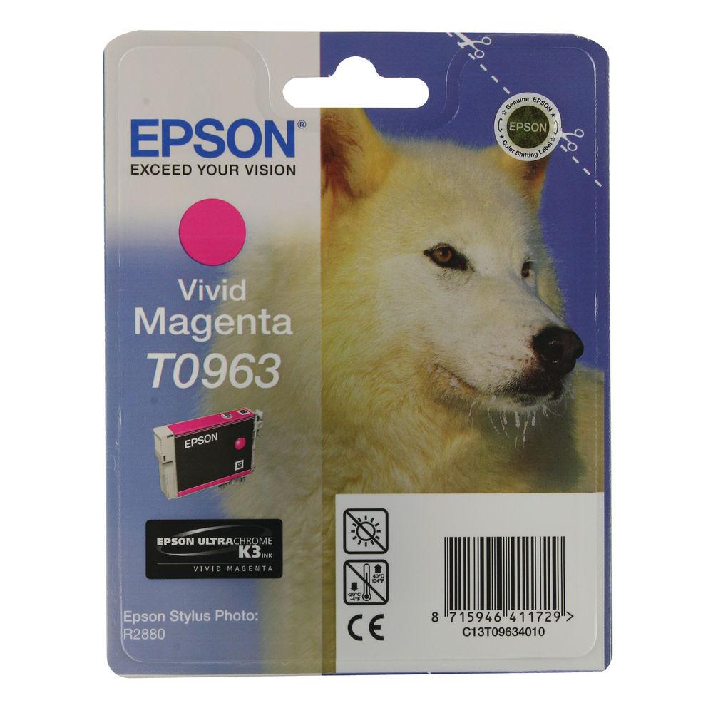 Epson T0963 Vivid Magenta Ink Cartridge - C13T09634010