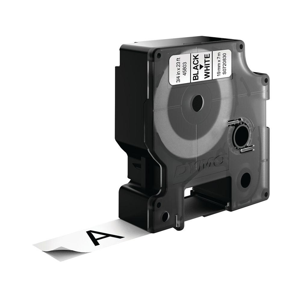 Dymo 45803 D1 Black on White Label Tape (Pack of 5) – S0720830