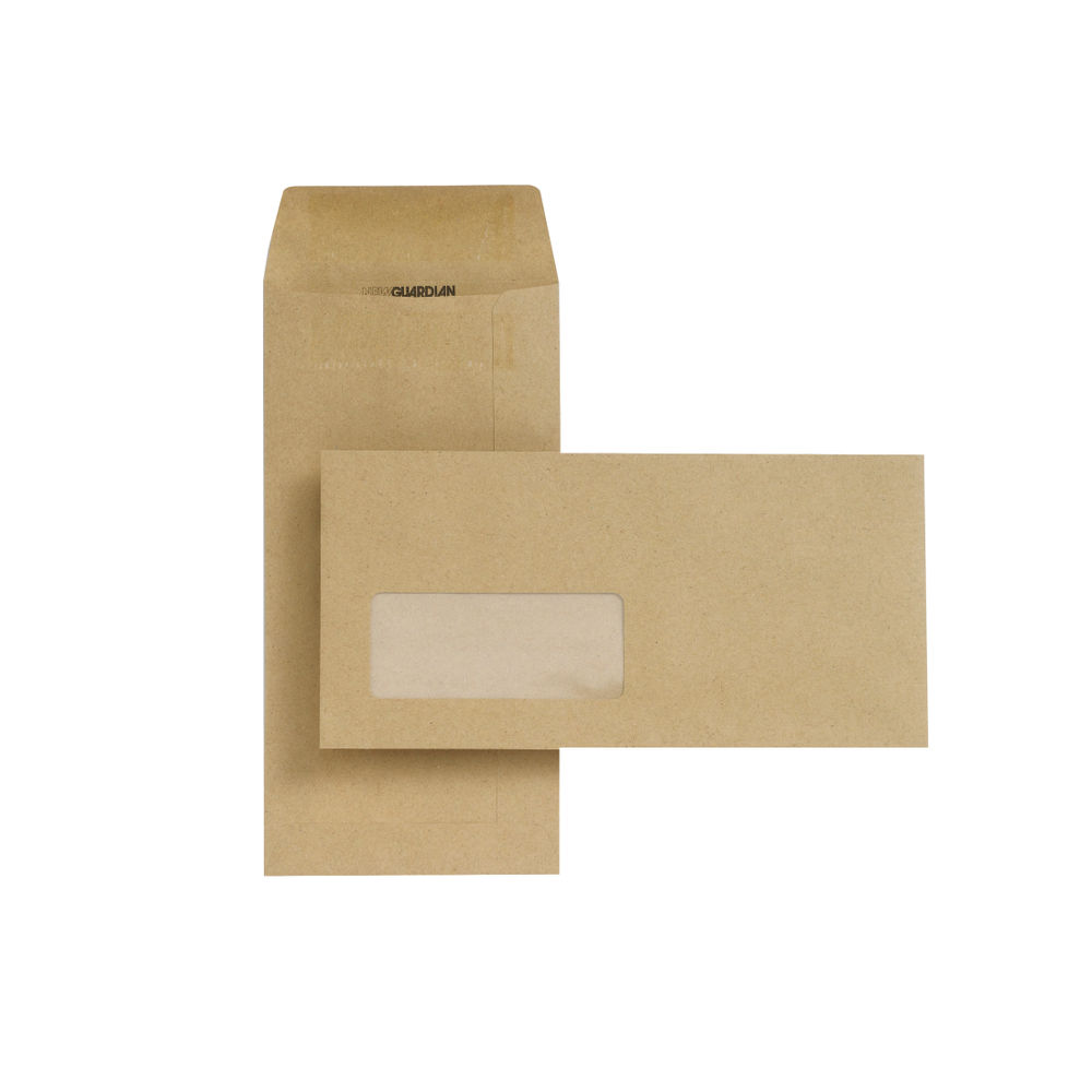 New Guardian DL Envelope Window SelfSeal Manilla (Pack of 1000) D25311