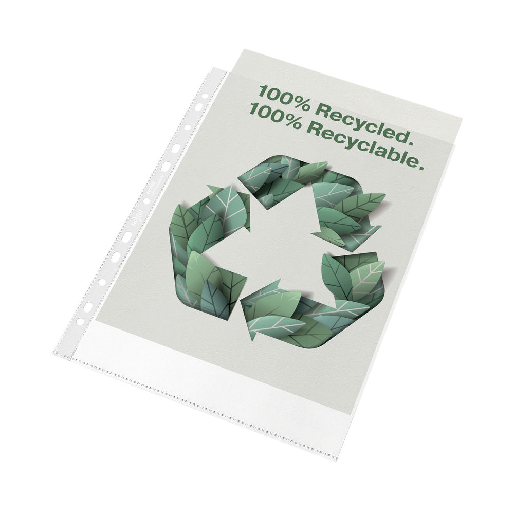 Rexel Pocket Recycled PP 70 micron A4 White (Pack of 100) 2115702
