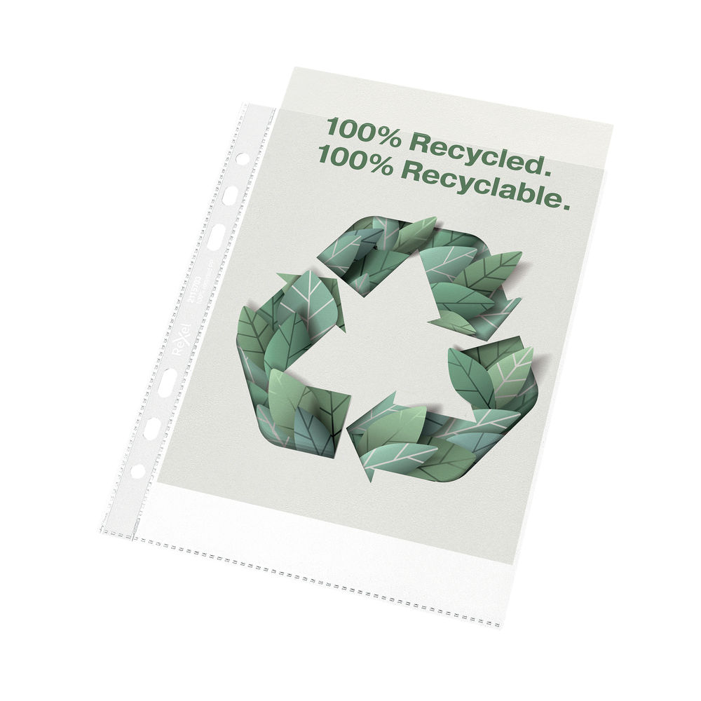 Rexel 100% Recycled A5 Punched Pocket (Pack of 50) 2115703