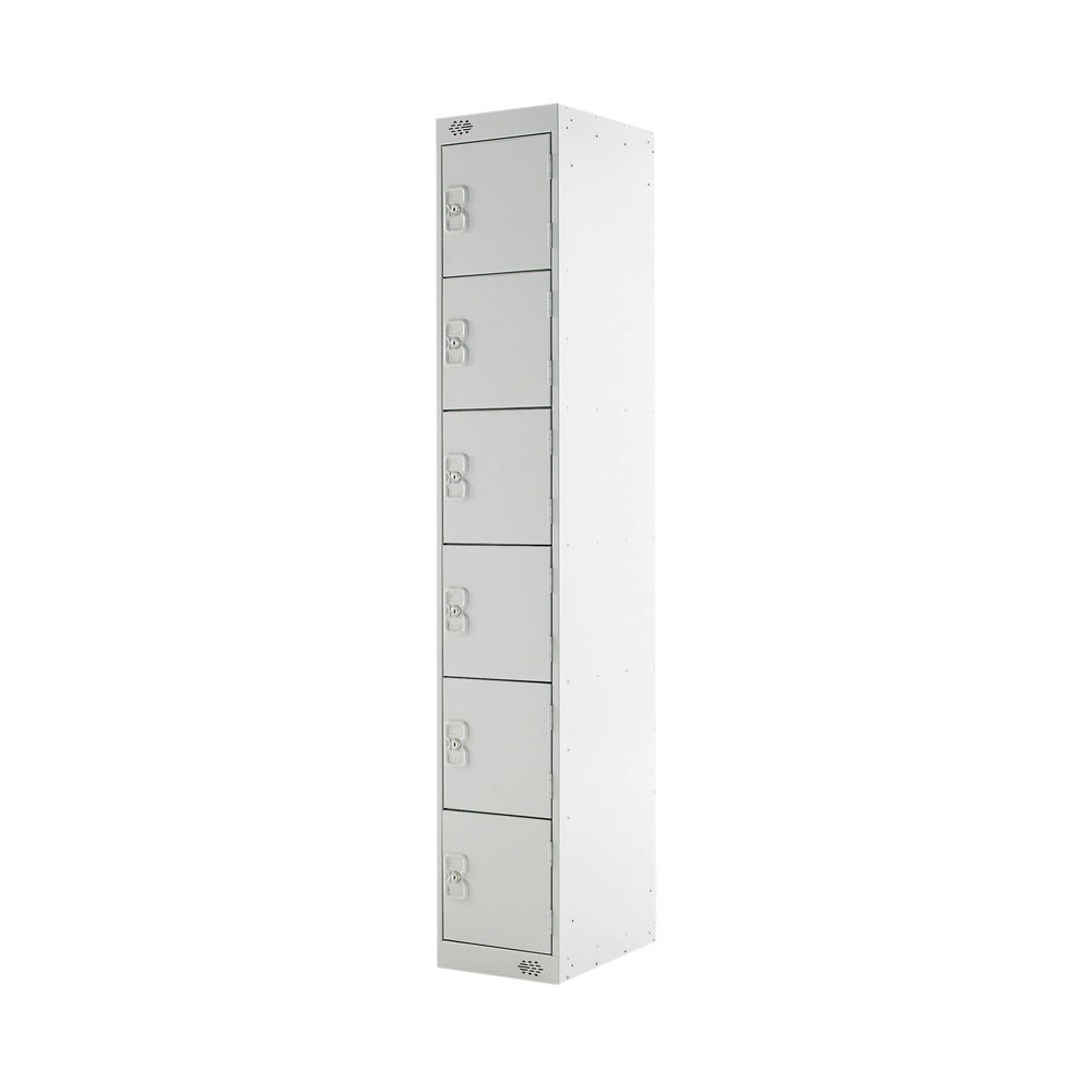 Six Compartment D450mm Light Grey Locker - MC00068