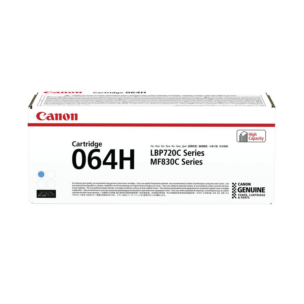 Canon Cartridge 064 High Yield Cyan Laser Toner Cartridge - 4936C001