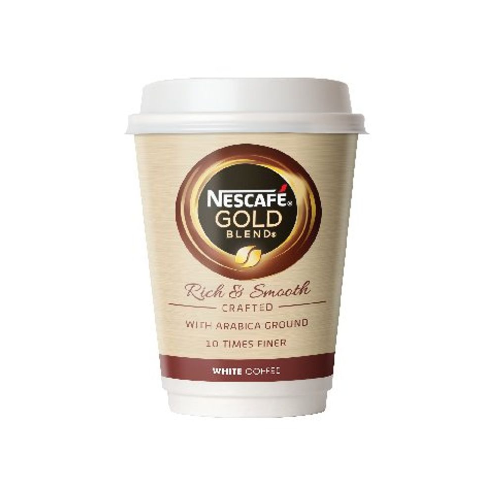 Nescafe and Go Gold Blend White Coffee Vend Cups - Pack of 8 - 12033813