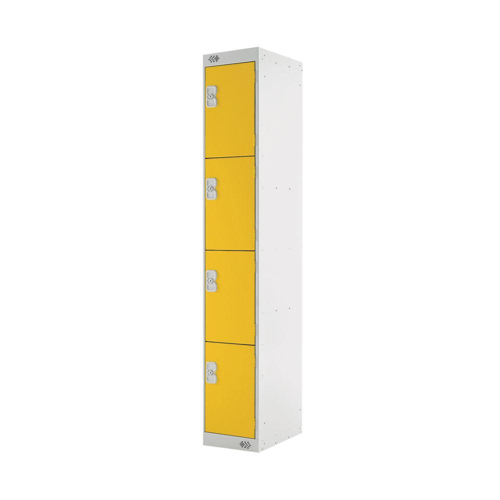 Four Compartment D450mm Yellow Locker - MC00060
