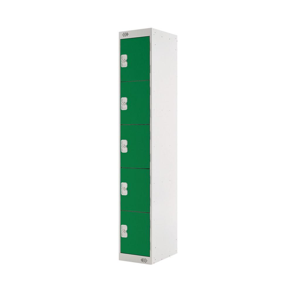 Five Compartment D450mm Green Locker - MC00064