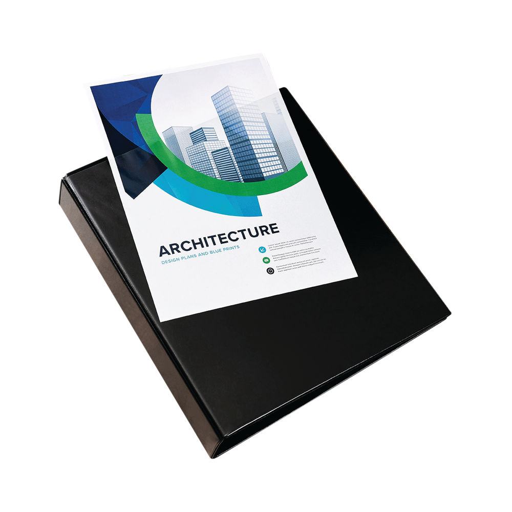 Lever Arch 2 Ring European Style Binders: Elba Panorama 65mm 2 D-Ring Presentation Lever Arch File