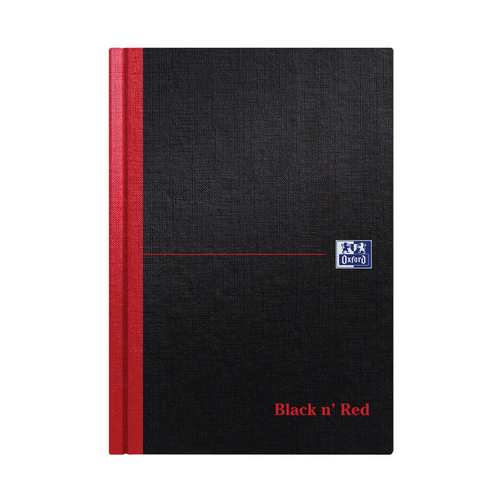Black n' Red Casebound Hardback Notebook 192 Pages A5 (Pack of 5) 100080459