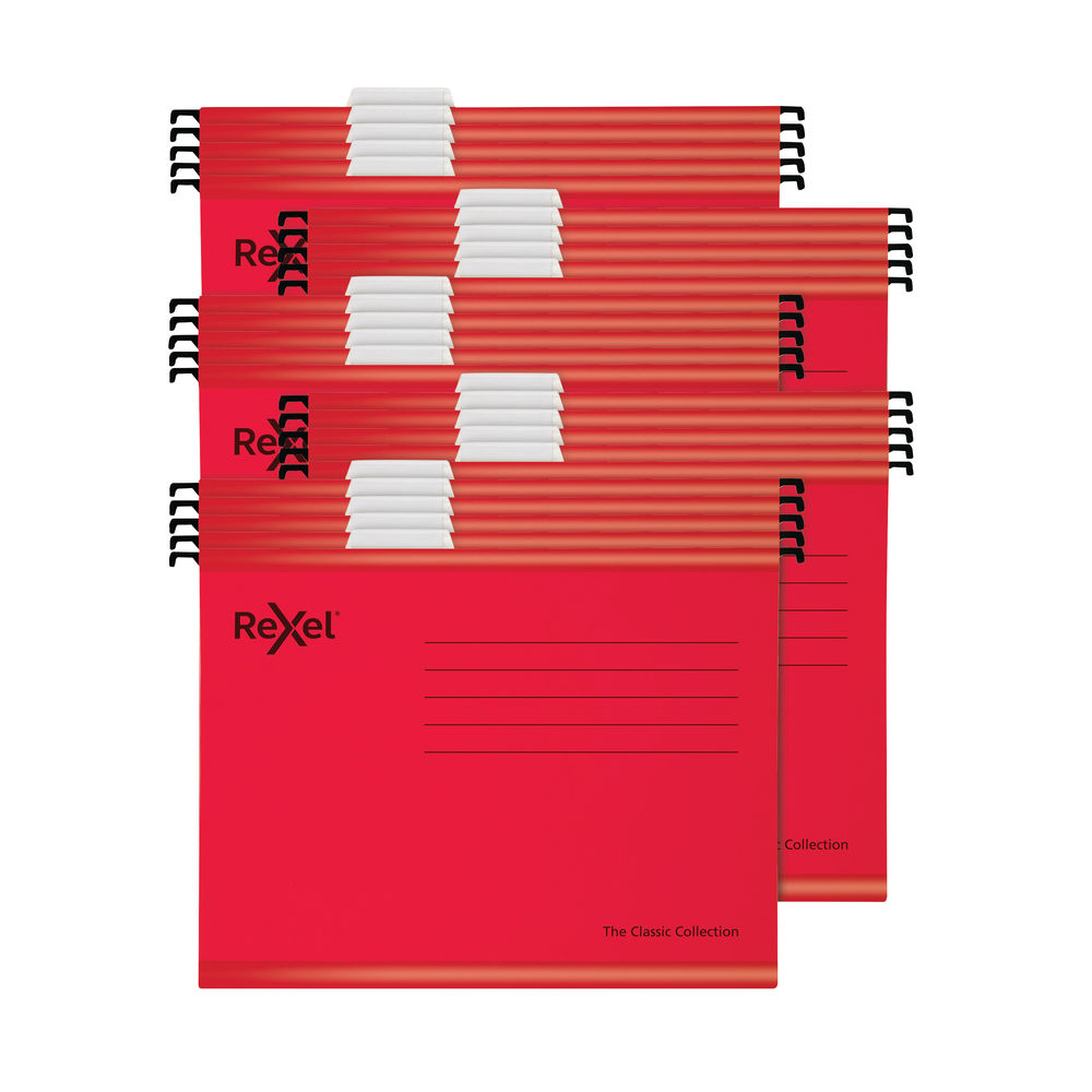 Rexel Classic Suspension Files A4 Red (Pack of 25) 2115589