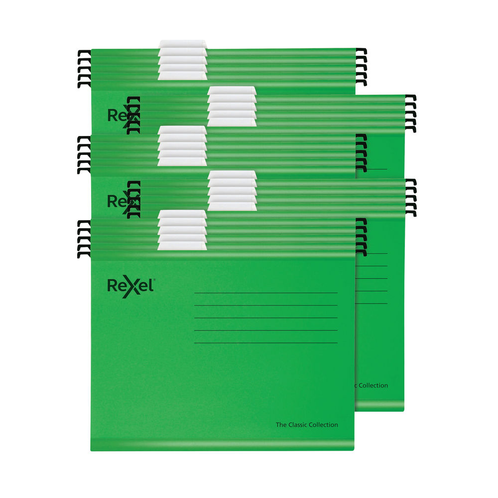 Rexel Classic Suspension Files Foolscap Green (Pack of 25) 2115591