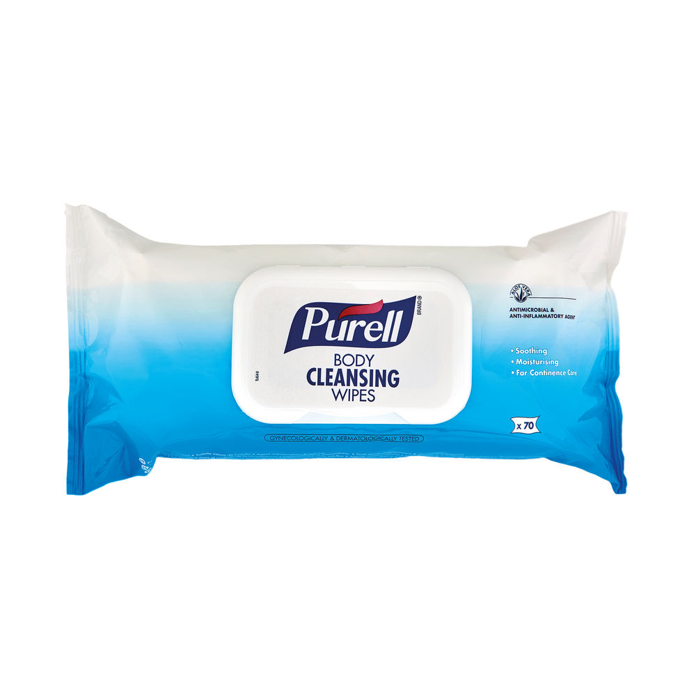 Purell Body Antibacterial Cleansing Wipes (Pack of 70) 94004-12-EEU