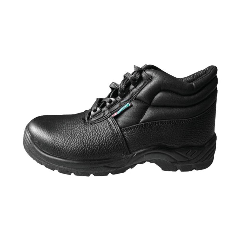 Non Metallic Chukka Boot Dual Density PU Black Pair Size 8 CF50BL08
