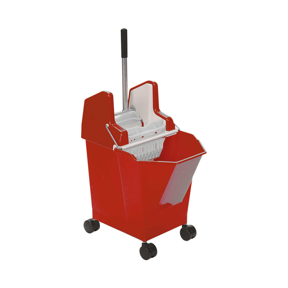 Ladymop Mobile Bucket and Wringer 9 Litre Red 907062